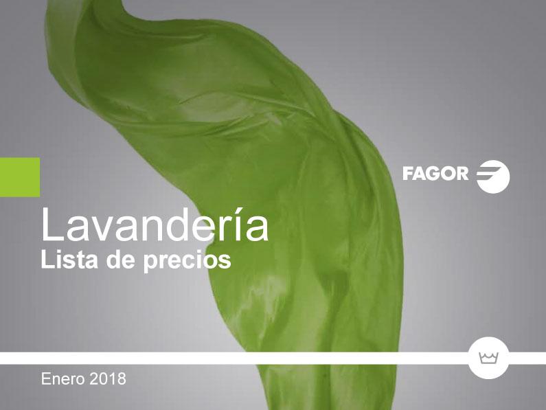 Nueva tarifa de LAVANDERIA FAGOR INDUSTRIAL 2018