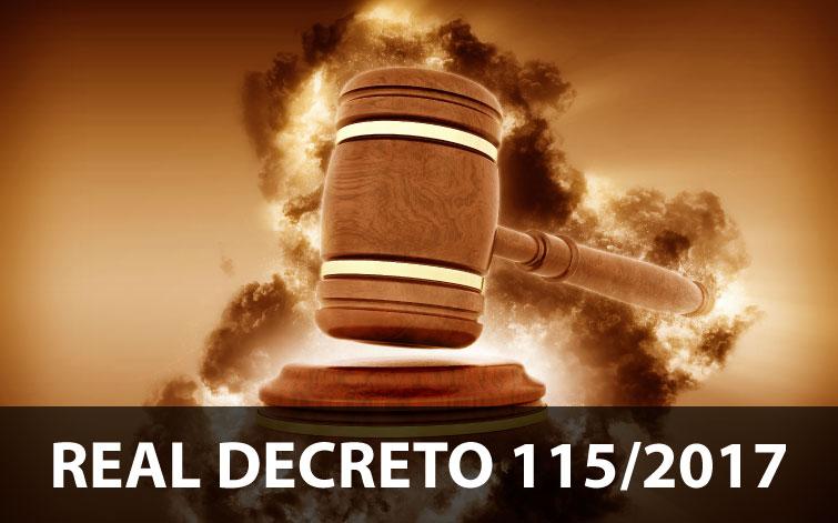 El Real Decreto 115/2017 gases fluorados y equipos basados en los mismos