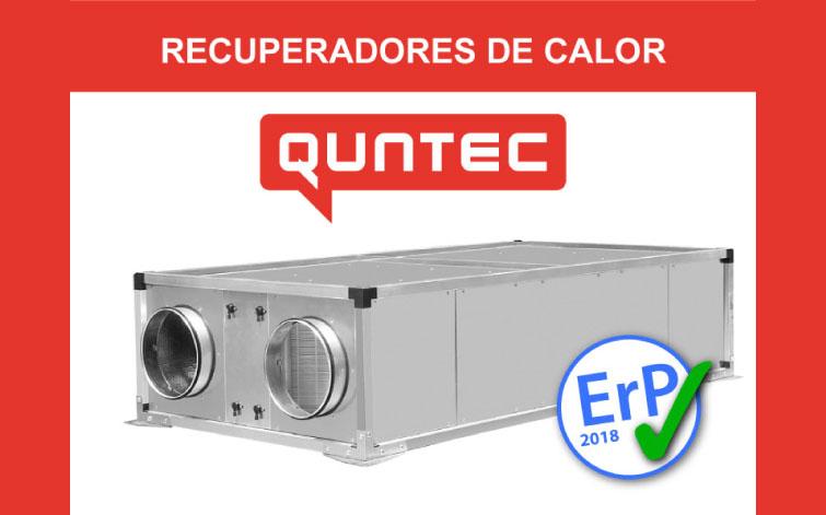 VICAM – Nuevo catálogo de RECUPERADORES DE CALOR QUNTEC (Erp 2018)