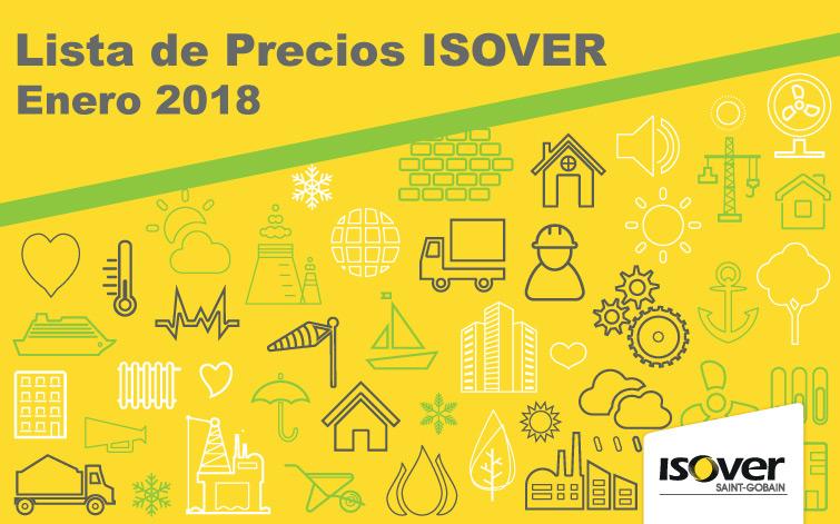 ISOVER, Tarifa 2018